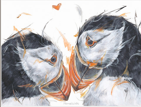 Aaminah Snowdon Homebirds artwork puffins new release
