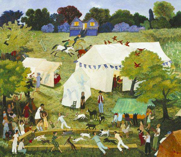 Anna Pugh Kipper Egging Florrie On Signed Limited Edition Giclee Print
