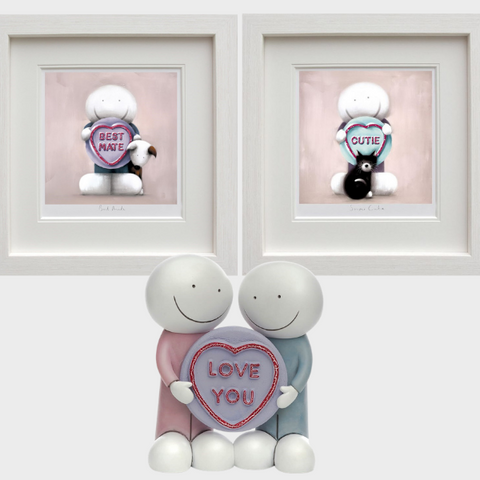 Love You Sculpture, Best Mate & Super Cutie artwork set