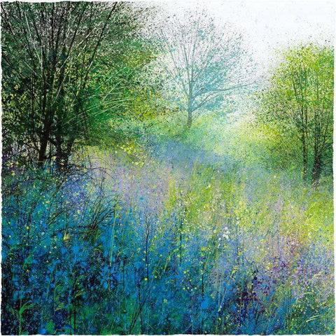 Paul Evans Bluebell Meadow Signed Limited Giclee Print Mounted