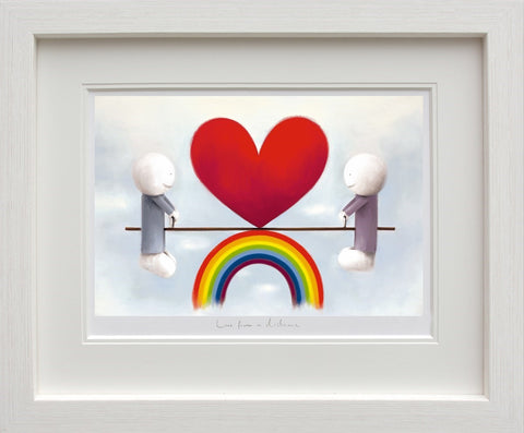 Doug Hyde Love from a distance framed