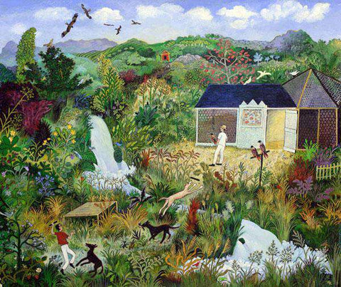 Anna Pugh Flying Kites Signed Limited Edition Giclee Print