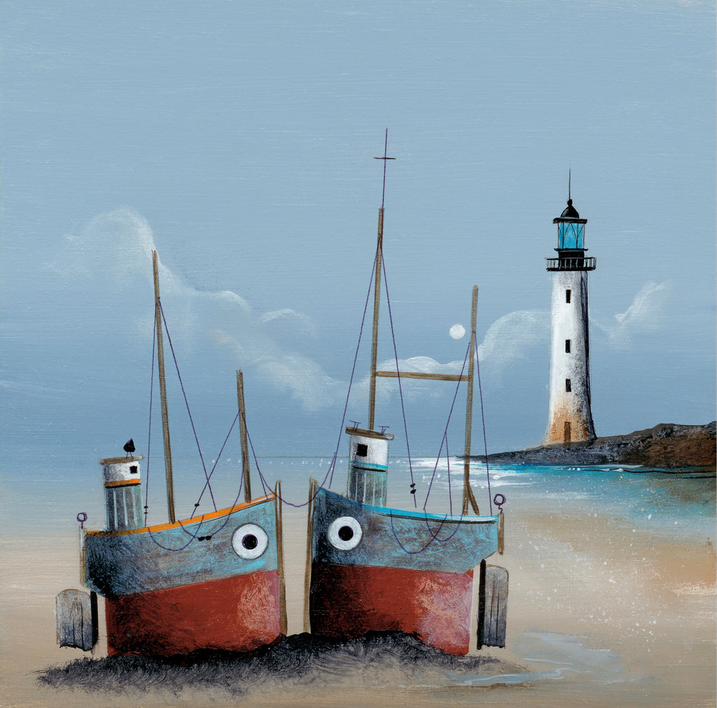 Gary Walton Lighthouse Companions mounted harbour artwork