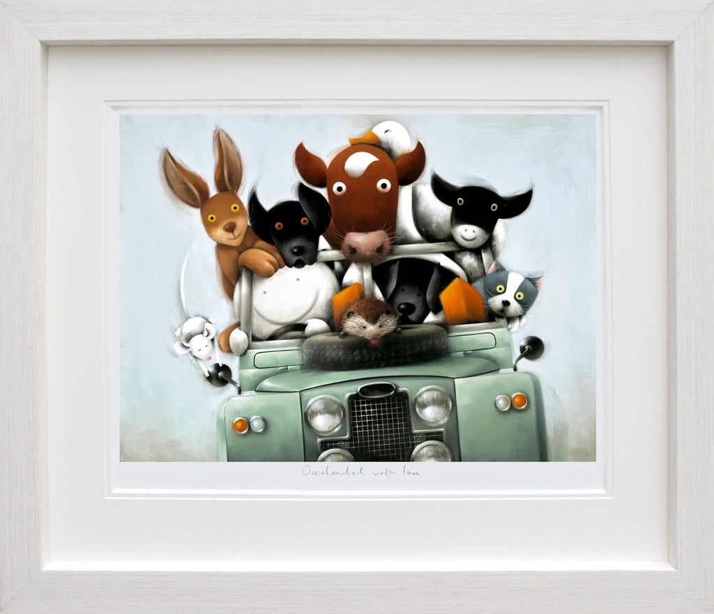 Overloaded with love Doug Hyde Landrover framed