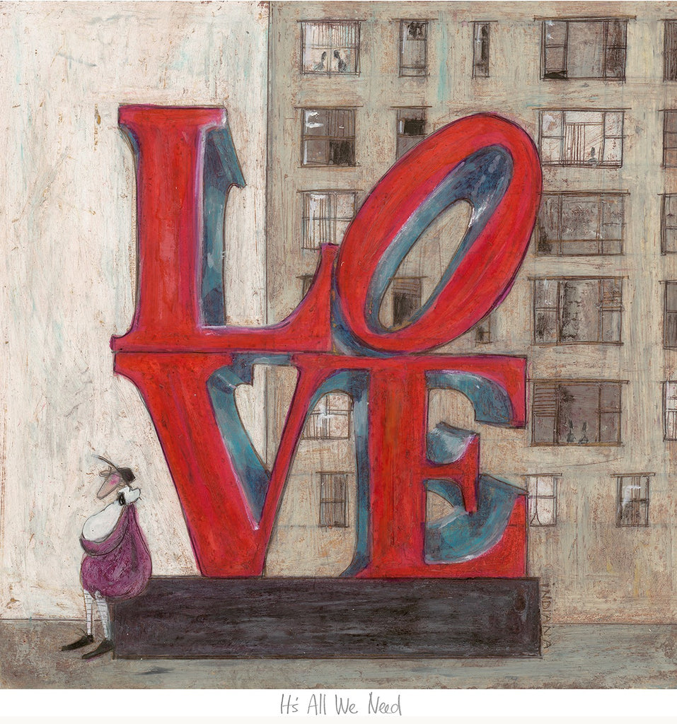 Sam Toft Its all we need Love mounted art print