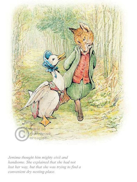Beatrix Potter-Jemima with Mr Fox | Official Collector's Edition | Free UK delivery