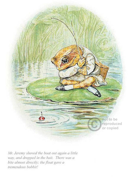 Beatrix Potter-Jeremy Fisher Dropped in the Bait | Official Collector's Edition | Free UK Delivery