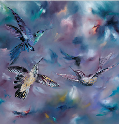 Julie Ann Scott Hummingbirds art print