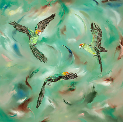 Julie Ann Scott Taking Flight bird art print 2020