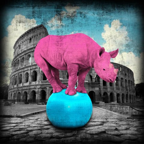 Lars Tunebo The Main Attraction Rhino in Rome artwork