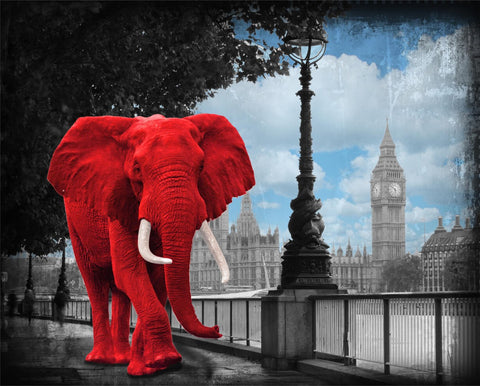 Lars Tunebo Westminster Wanderer Elephant on the Thames