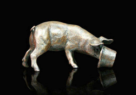 Richard Cooper Little Pig Bronze sculpture