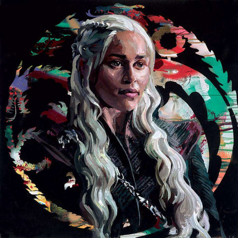 Zinsky-Mother of Dragons | Embellished Canvas on Board | Free UK delivery