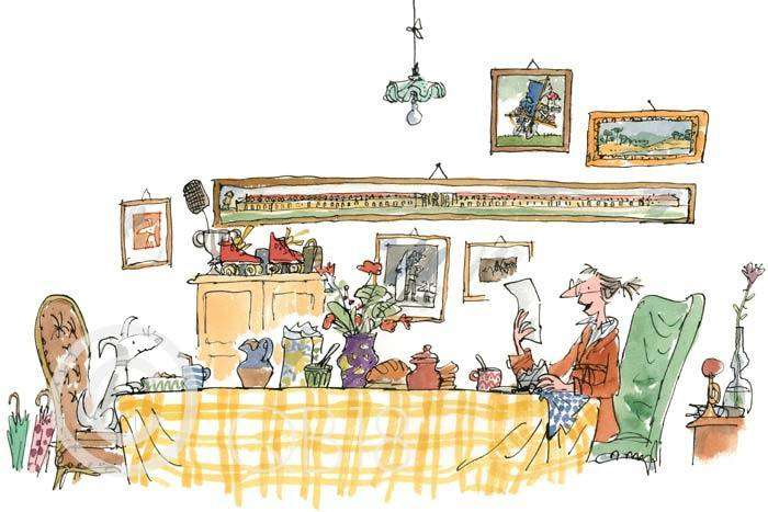 Sir Quentin Blake Mrs Armitage read the letter to Breakspear Collectors Edition Print
