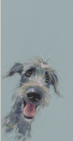 Nicky Litchfield Scruffy Mutt mounted new for 2019, dog art