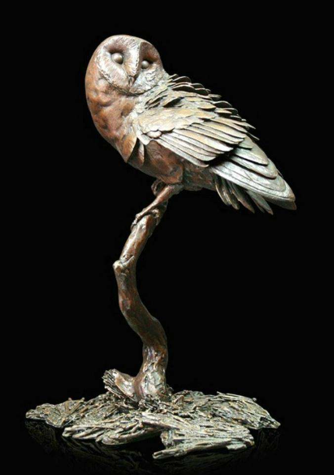 Richard Cooper Night Owl Bronze Sculpture