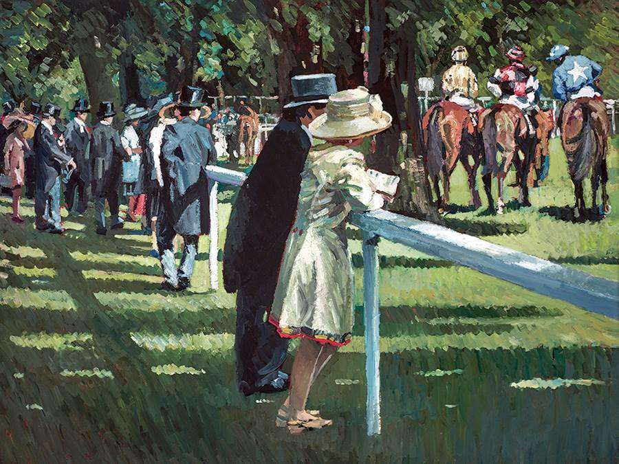 Sherree Valentine Daines On Parade horse racing art print