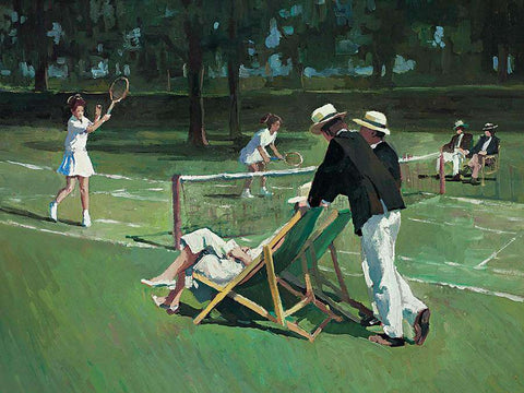 Sherree Valentine Daines art print Perfect Match tennis game