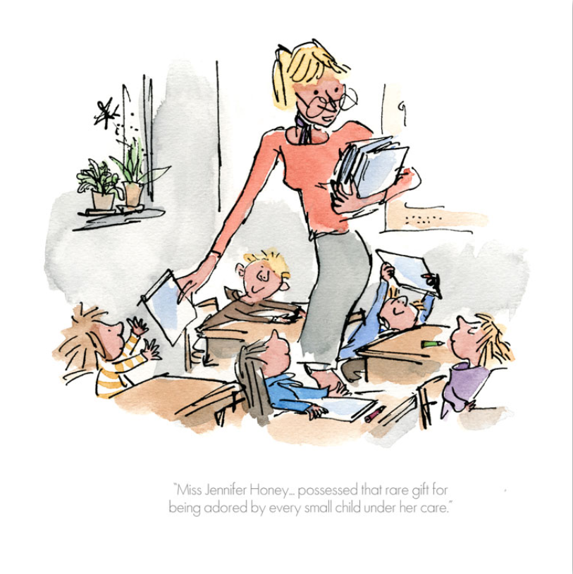 Quentin Blake Roald Dahl Miss Honey Matilda Collector's edition art print