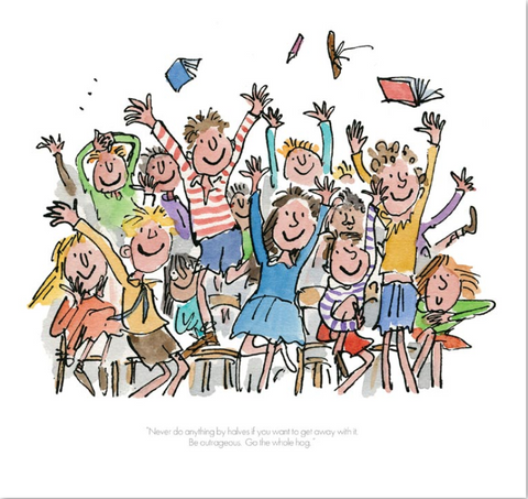 Quentin Blake Collector's edition print Never do anything by halves