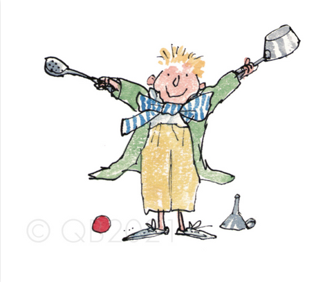 Quentin Blake Sorting out the kitchen pans - All join in