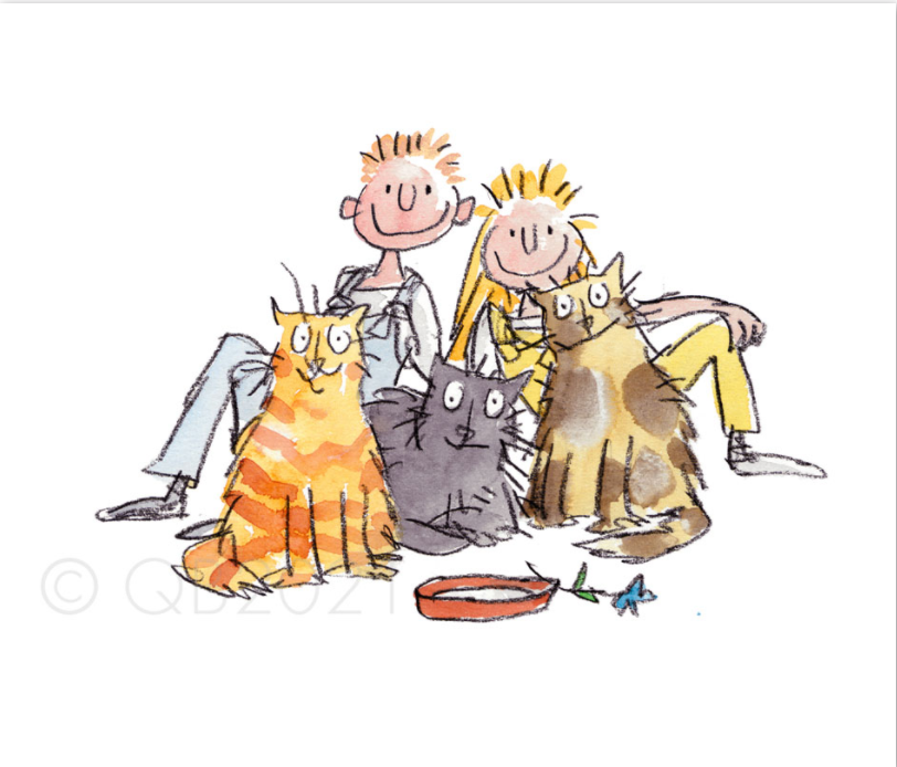 Fantastic Daisy Artichoke Quentin Blake illustration Three Fat cats