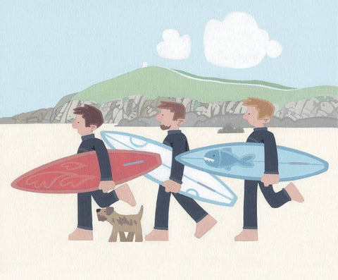 Sasha Harding-The Boys, Fistral Beach | Limited Edition | Free UK Delivery