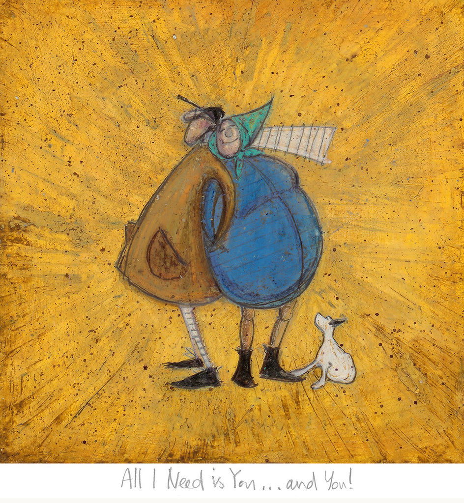 Sam Toft All I need is you and you mounted 2020 art print