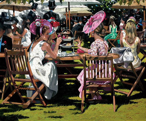 Sherree Valentine Daines Afternoon tea at Ascot framed