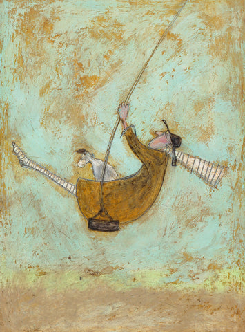 Sam Toft Flying Free mounted new for 2020 art print