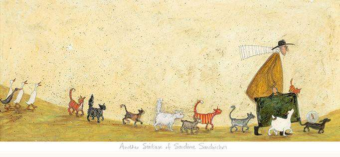 Sam Toft Another suitcase of sardine sandwiches mounted art print
