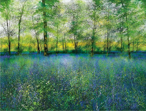 Paul Evans Scent of Bluebells Signed and Numbered Limited Edition Giclee Print Mounted