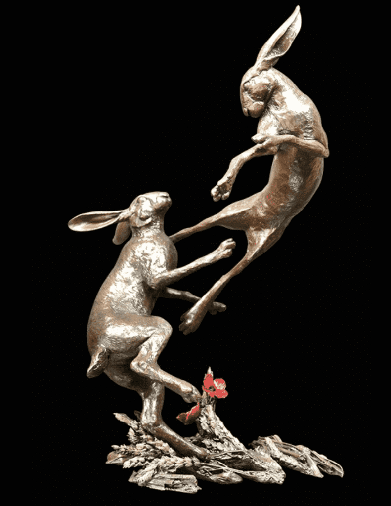 Richard Cooper Large Hares Boxing