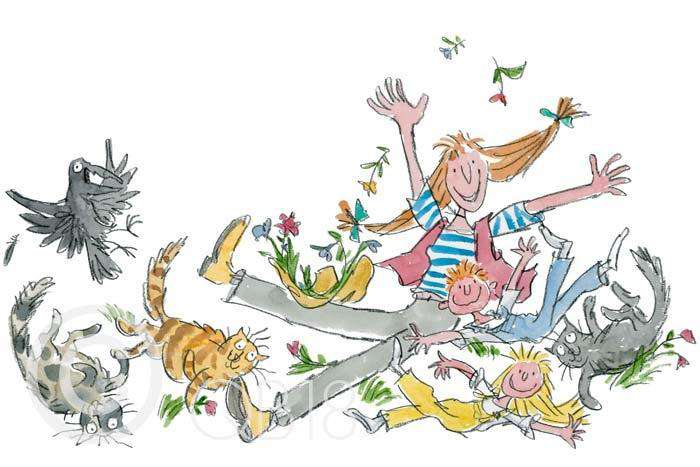Sir Quentin Blake She isn't quite like other folk Collectors Edition Print