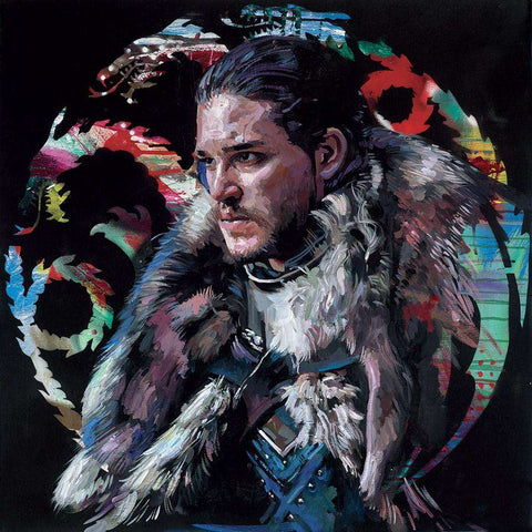 Zinsky-Winter is Coming | Embellished Canvas on Board | Free UK Delivery
