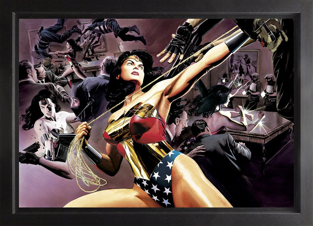 DC Wonder woman canvas artwork framed