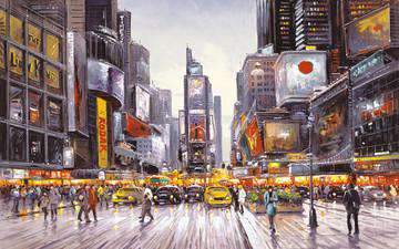 Henderson Cisz Times Square Morning