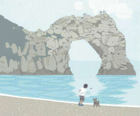 Sasha Harding Skimming Stones, Durdle Door mounted