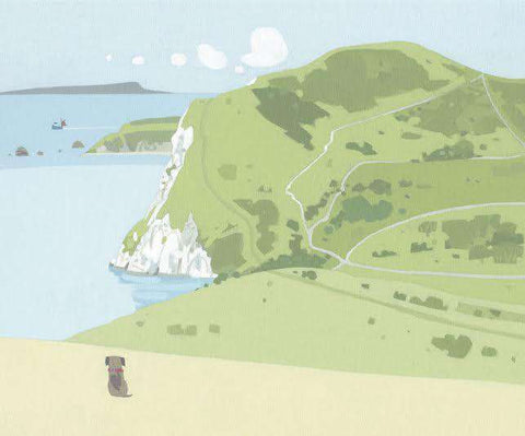 Sasha Harding What a View, Lulworth Ranges mounted