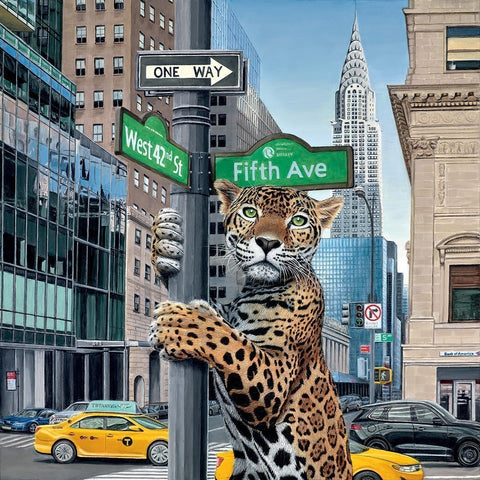 concrete jungle cheetah fifth ave new york steve tandy