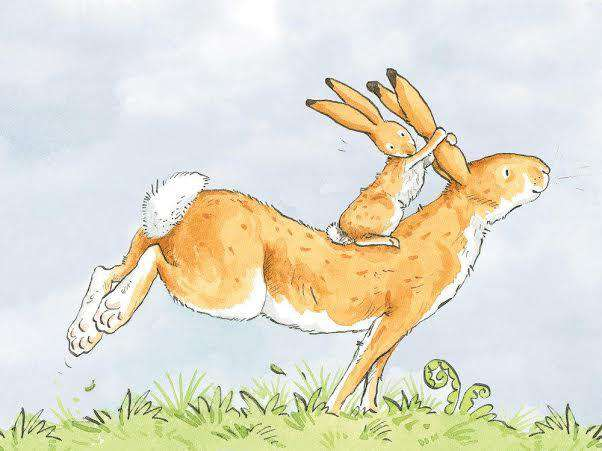 Anita Jeram Guess How Much I Love You piggyback mounted