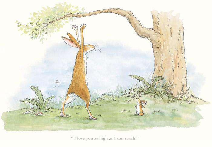 Anita Jeram I love you as high as I can reach mounted
