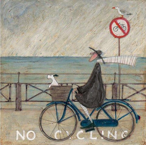 Sam Toft No Cycling Signed art print