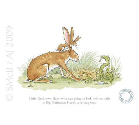 Ania Jeram Little Nutbrown Hare held on tight mounted