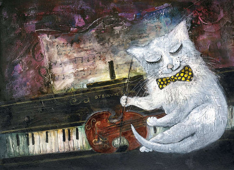 Rosa Sepple Cat on the Fiddle