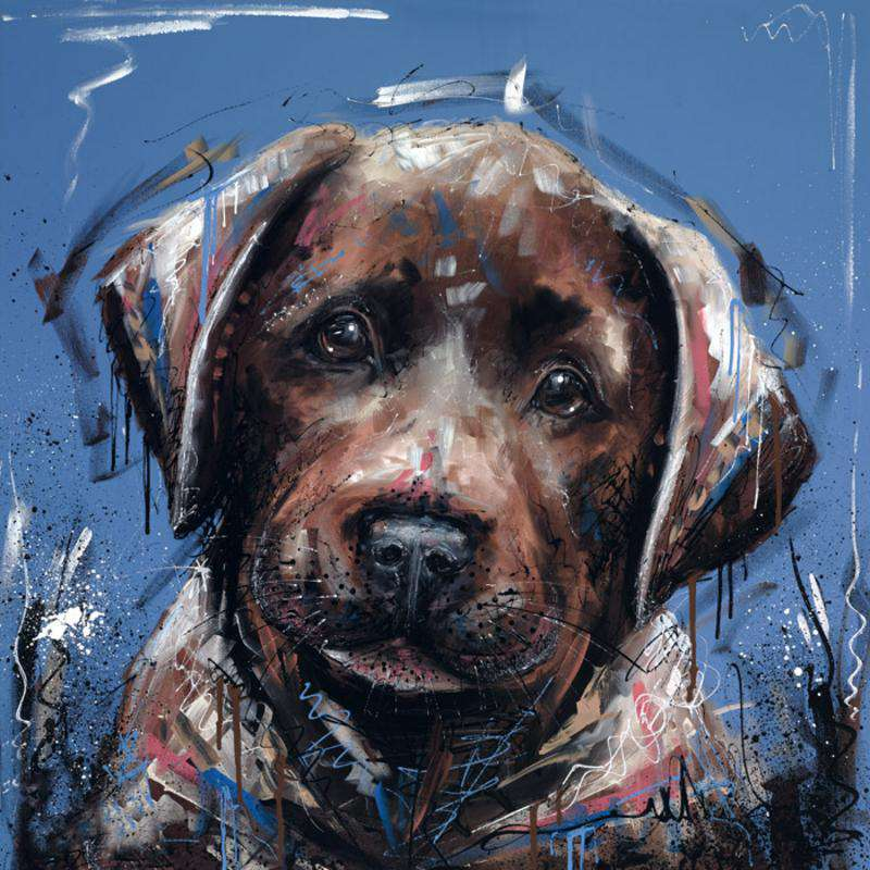 Samantha Ellis-Dirty Dog | Hand Finished Limited Edition on Canvas | Free UK Delivery