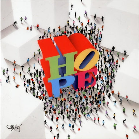 hope is around the corner craig alan USA limited edition dots people 3D