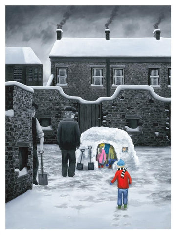 snow igloo children houses