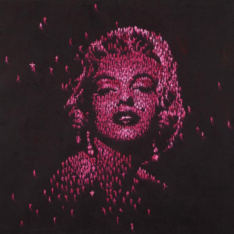 marilyn monroe pink dots craig alan people neon colour black celebrity limited edition USA