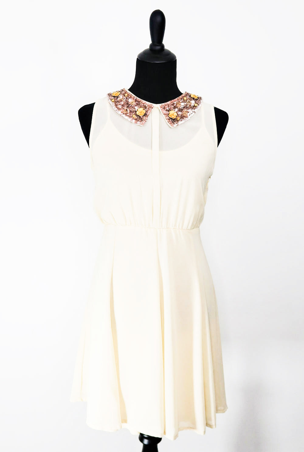BAR III Sequence Collar  A-line Dress